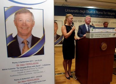 Sir Alex Ferguson awarded honors from the University of Rome