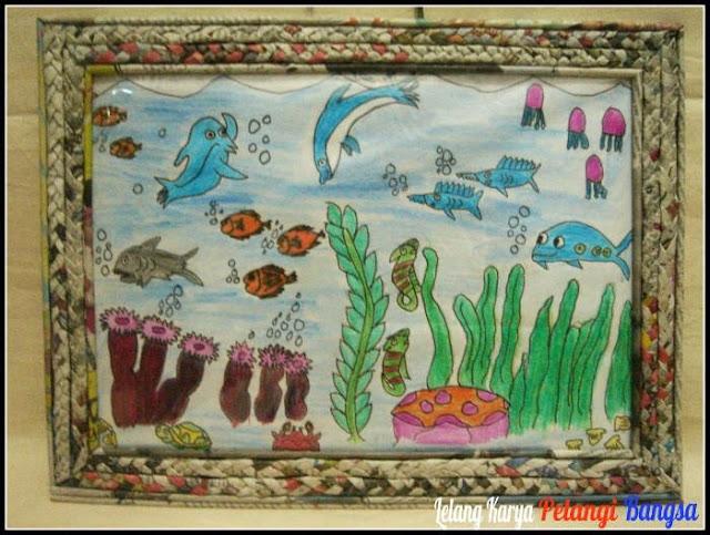 Lelang Gambar Anak : Penghuni Laut Pigura Unik Kerajinan Tangan Kreasi ...