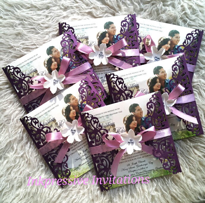 Intricate cut wedding invitation in purple elegant and unique intricate cut wedding invitation in purple elegant and unique filmwisefo