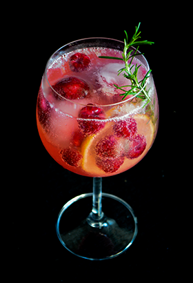 Gin Tônica de Framboesa