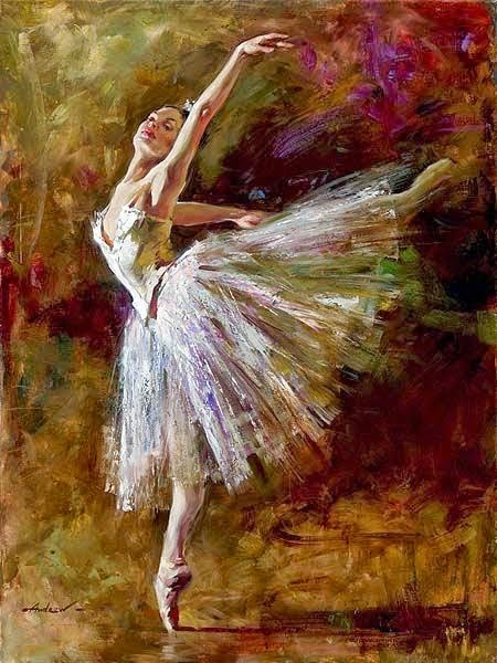 pintura de bailarina dançando