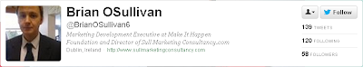 Brian O'Sullivan. Marketing Development Executive at Make It Happen.