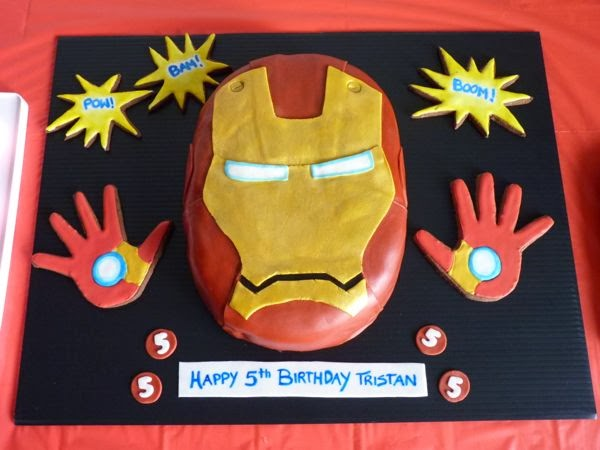 Swoon For Food Ironman Birthday Party with Ironman Themed Cake