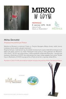 962c6ea2623d3 Stowarzyszenie Promocji Artystów Wybrzeża ERA ART zaprasza na wystawę  malarstwa i rzeźby włoskiego artysty Mirko Dematte do galerii PROFILE w  Gdyni, ul.