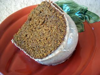 pumpkin bundt cake with cinnamon butter glaze