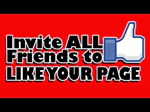 Automatically Invite all Friends to Like Your Facebook Fan Page