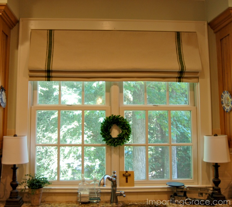 Roman Shades Kitchen Window Treatments: Imparting Grace: My Updated Kitchen