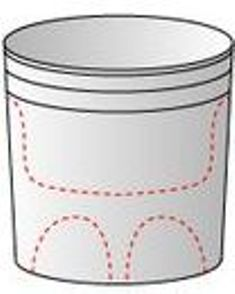 gambar pola depan ember