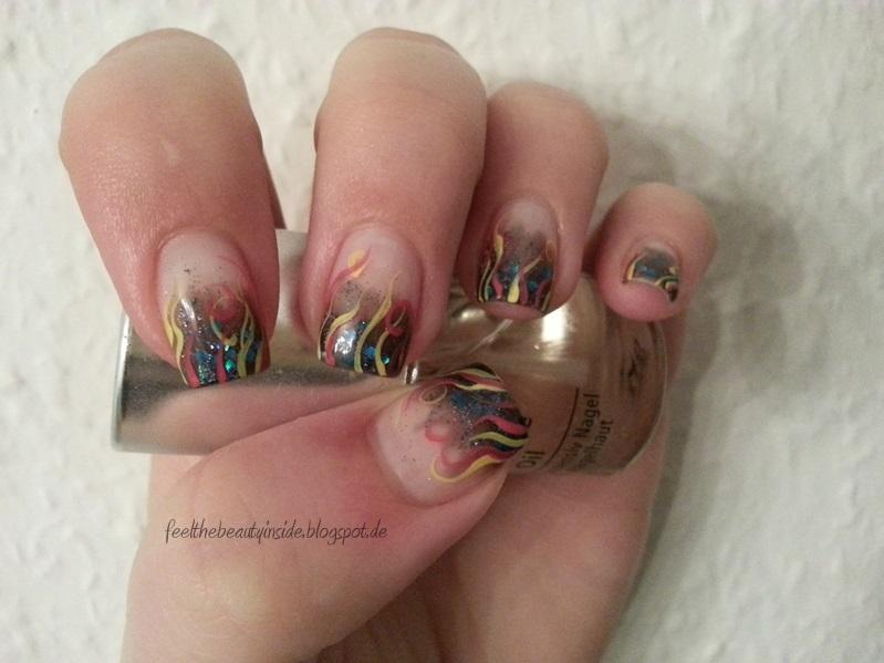 nageldesign french zweifarbig - Schönes einfaches Nageldesign in Grau