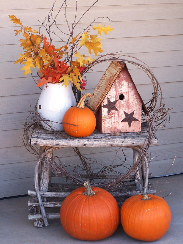 No place like home fall or autumn which do you prefer Fall outdoor decorating with pumpkins