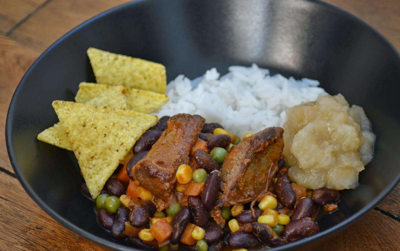 Mexicaanse chili met runderstoofvlees