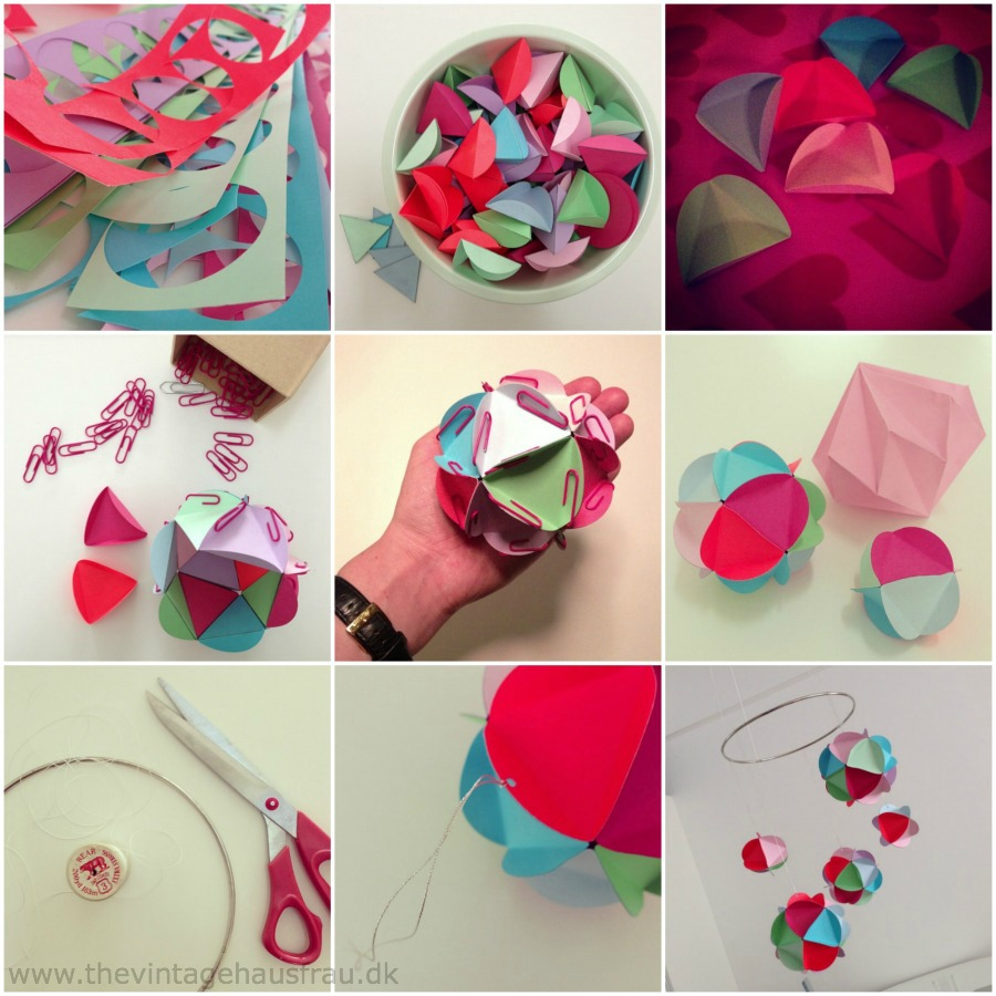 Uro med papirbolde diy / mobile with paperballs diy – the vintage ...