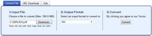 El conversor de archivos on-line Free File Converter