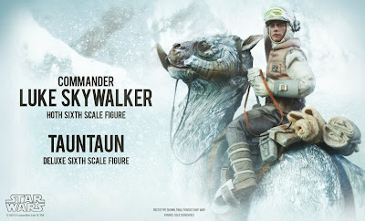 Sideshow Collectibles 1/6 Scale Star Wars Luke Skywalker in Hoth Gear with Tauntaun