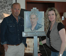 Actor Kevin Costner Sits for Spinks' Portrait Series.