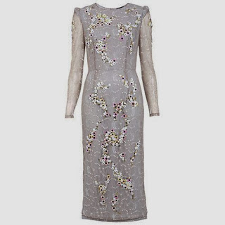 Miss Selfridge Beaded Lace Pencil Dress John Lewis