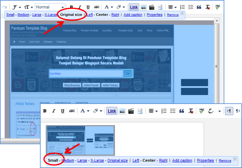 Cara Mengganti Ukuran Gambar Artikel