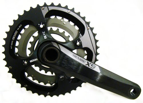 TRUVATIV CRANKSET X9 3X10 2011 44-33-22 WHITH BB