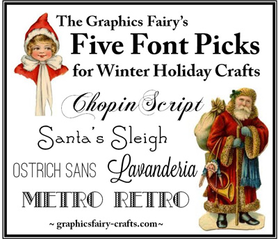 Fonts for Winter Holiday Crafts