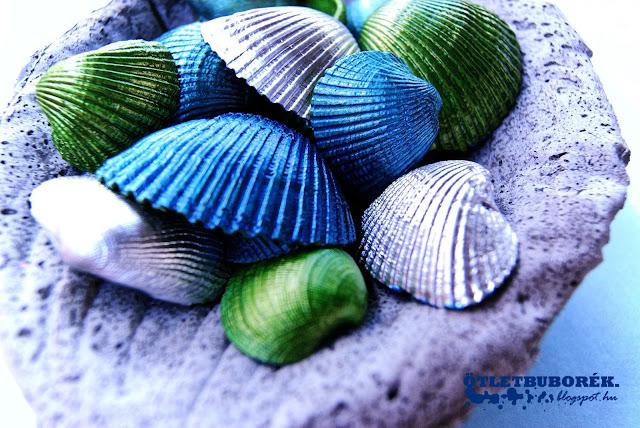 metálfényű kagyló kagylóhéj