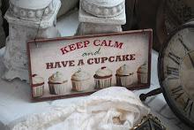 lantlig cupcakeskylt
