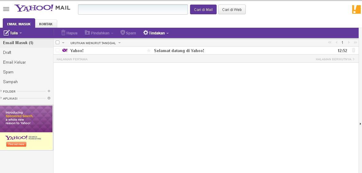 Cara Membuat Email di Yahoo! ~ Dianacakes