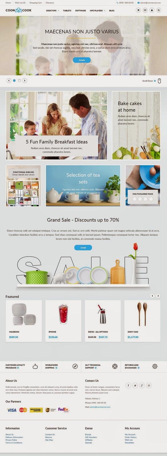 Cooncook Responsive eCommerce Theme