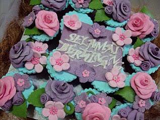 Cupcake fondant Hantaran
