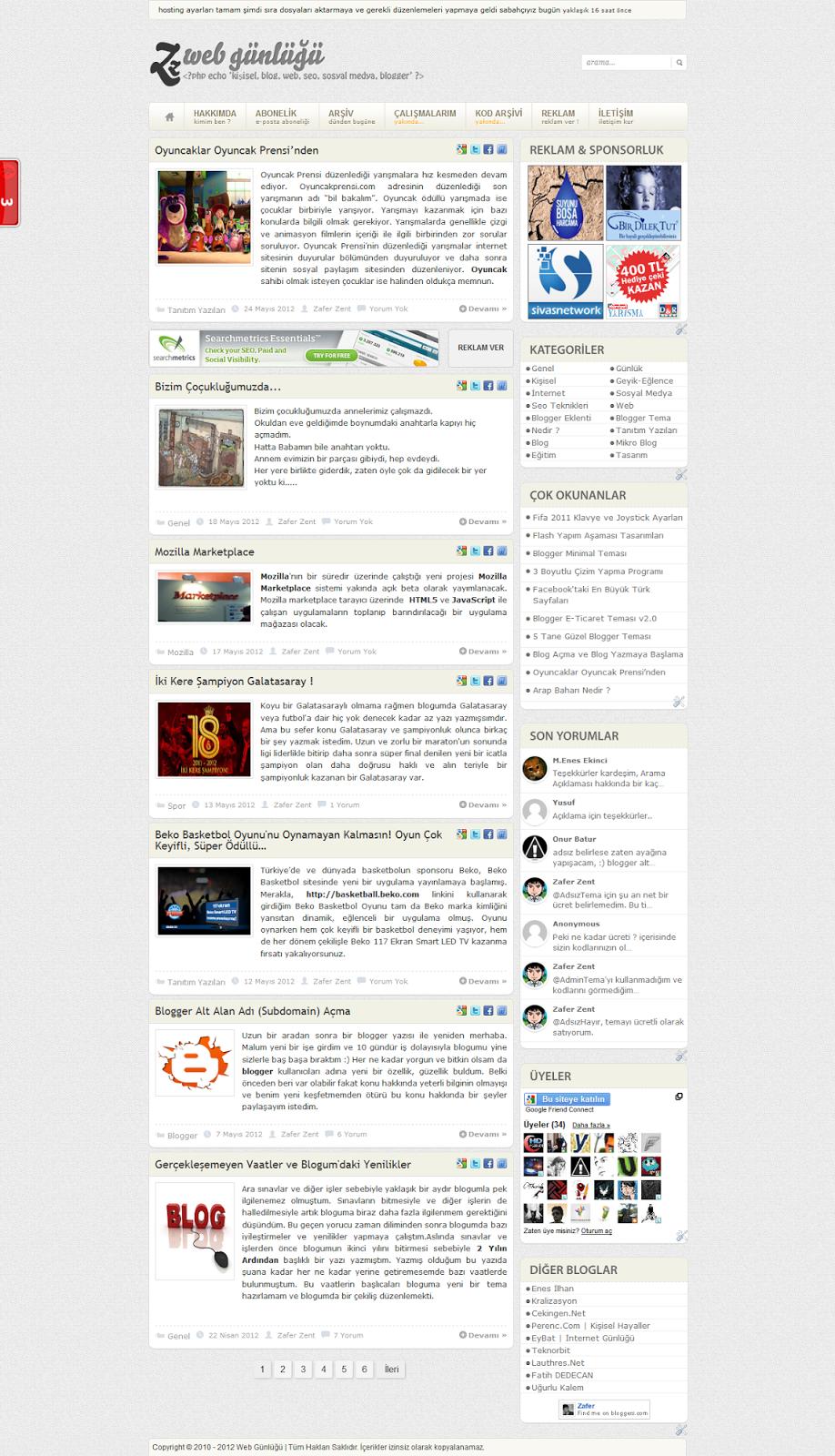 GZ Blogger Teması