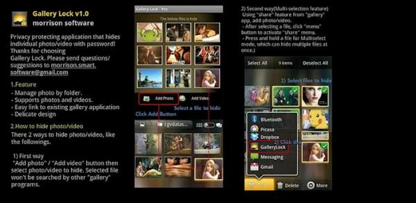 تطبيق Gallery.Lock.Pro حماية الصور برقم سرى للاندرويد