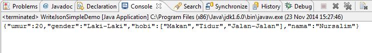 Menggunakan JSON Simple