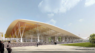 Bengaluru International Airport Terminal 1 expansion plan front view