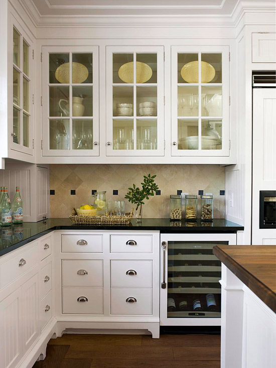 2012 white kitchen cabinets decorating design ideas home for Black kitchen cabinet design ideas