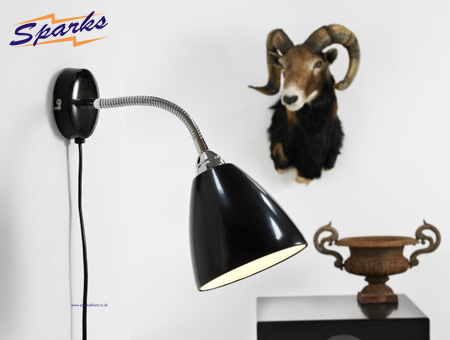 Nordlux Mini Flexible Wall Light in a black finish