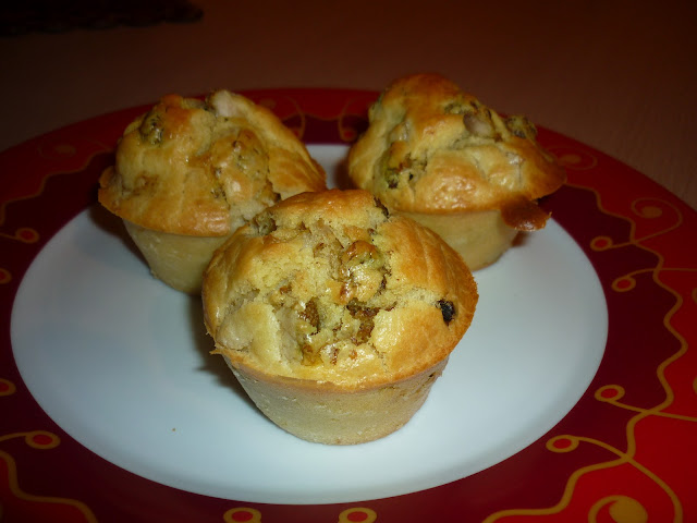 Muffins aux figues et au poulet, recette, cuisine, apéritif, bullelodie