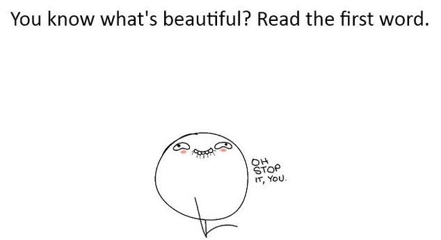 You Know What's Beautiful - Read The First Word