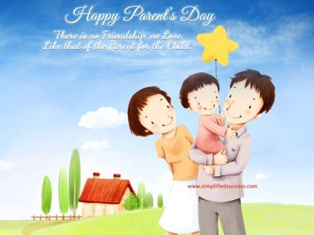 Parents Day Ecard Clipart