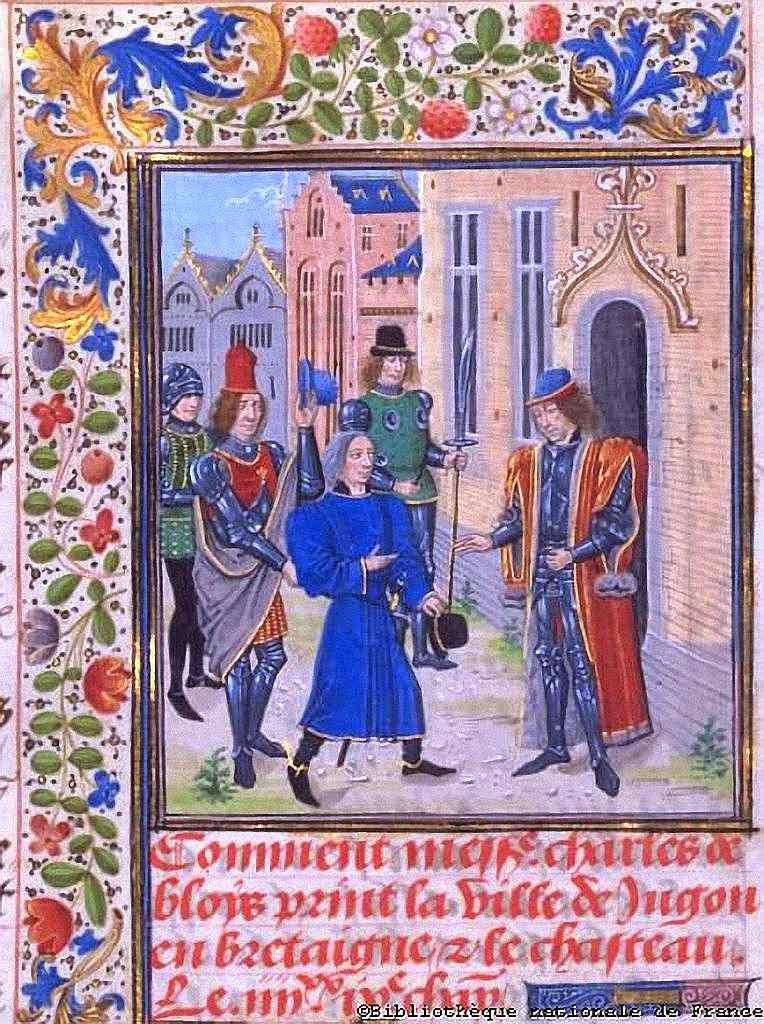 O Beato Charles de Blois recebe representação dos habitantes de Jugon