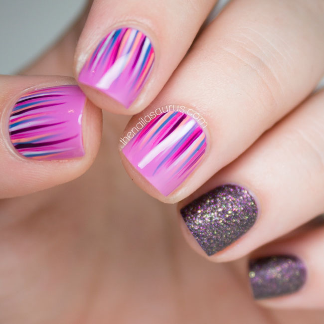 Purple Waterfall Nail Art with Barry M Countess
