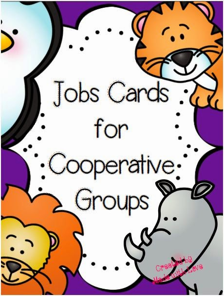 http://www.teacherspayteachers.com/Product/Cooperative-Group-Job-Cards-1419269