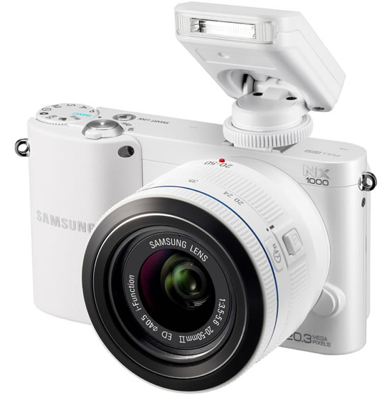 Samsung NX1000 mirrorless camera Advanced Smart Full HD Video Recording & Wifi with Sensor 20.3 Megapixel APS-C CMOS