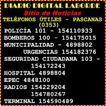 TELÉFONOS ÚTILES PASCANAS