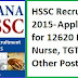 HSSC Recruitment 2015 – Apply Online for 12620 PGT, Staff Nurse, TGT, JE & Other Posts