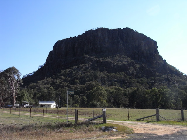 Timor Rock on way to Warrumbungle National Park, driving from Coonabarrabran