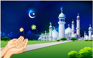 美しいモスクを臨む景色 mosque illustrations and backgrounds イラスト素材3