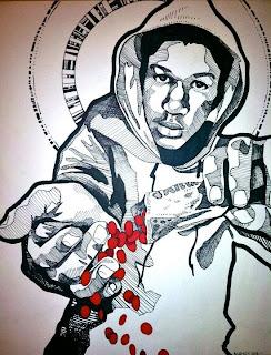 Penciled Trayvon Martin Art