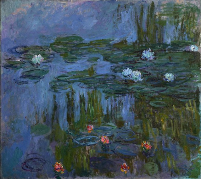 Claude Monet, Water Lilies, 1914-15. Jardin de Monet en Giverny. Nenúfares
