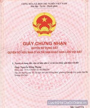 dat my phuoc 3 chinh chu
