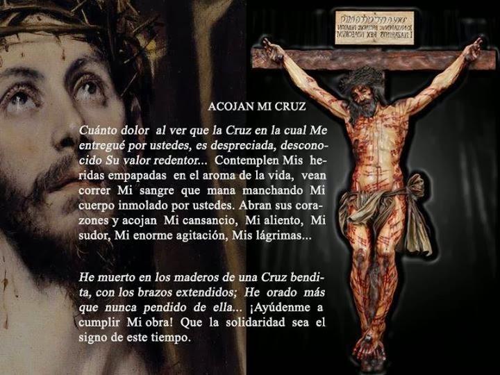 Recibe a Jesús en la Cruz