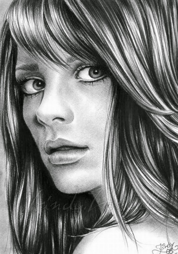 dibujos-a-lapiz-de-rostros-de-mujeres-jovenes